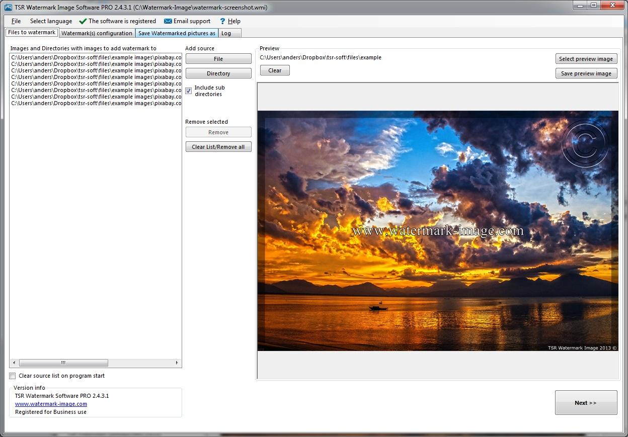 TSR Watermark Image Pro 3.6.1.1 多國語言免安裝